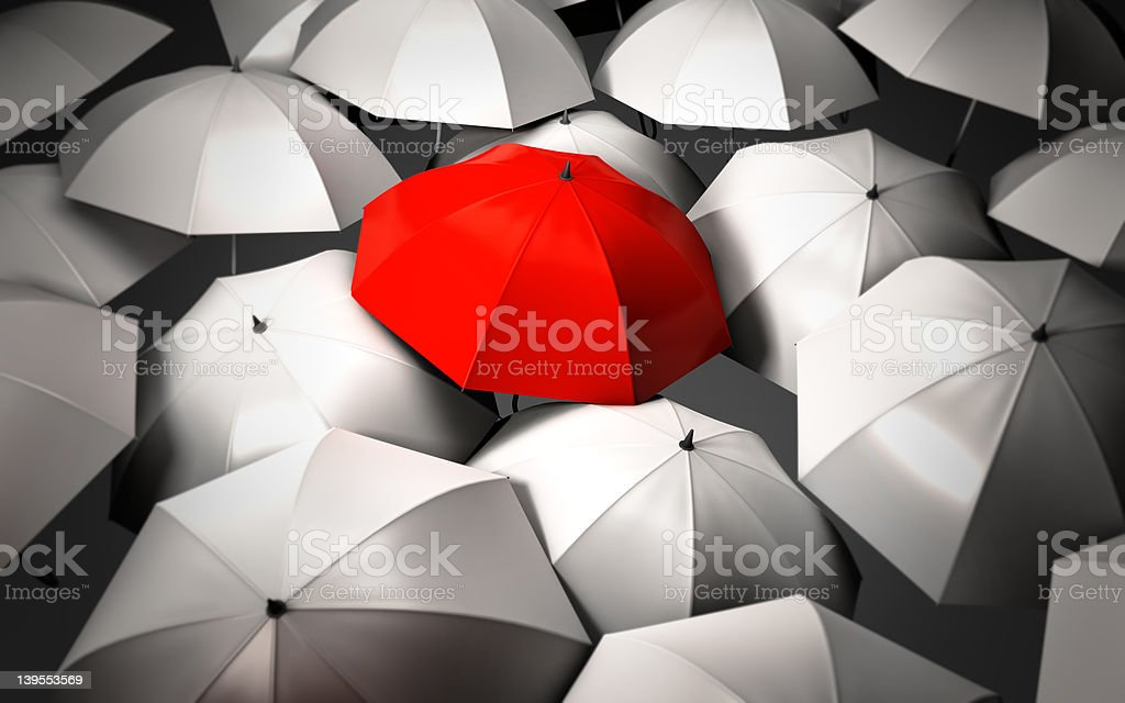 Stand out of a crowd stock photo