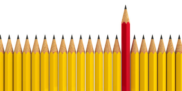 stand out - pencils #3 - pencil stock photos and pictures