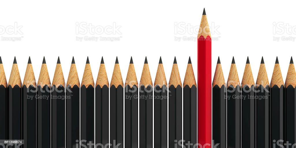 Stand out - pencils #4 stock photo