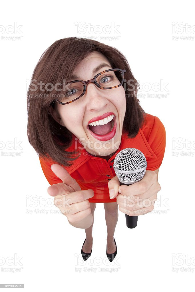 Stand Up Comic royalty-free stock photo