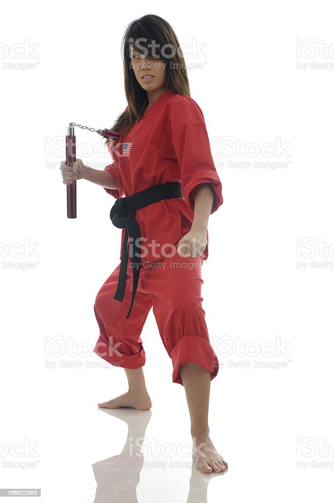 Stand up fighting system stock photo