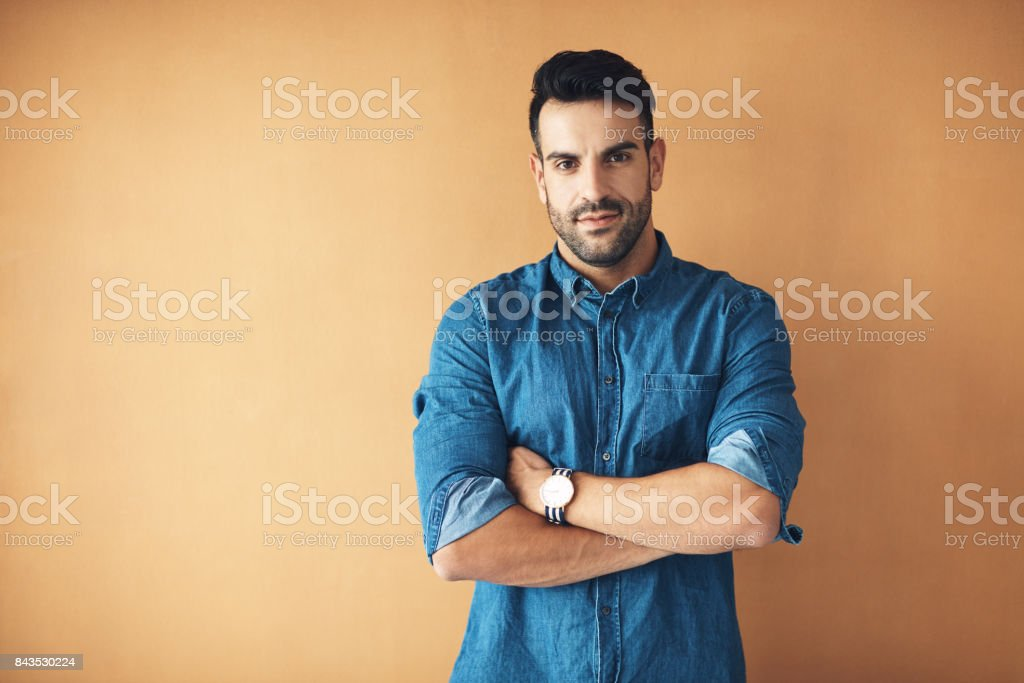Stand up for who you are stock photo