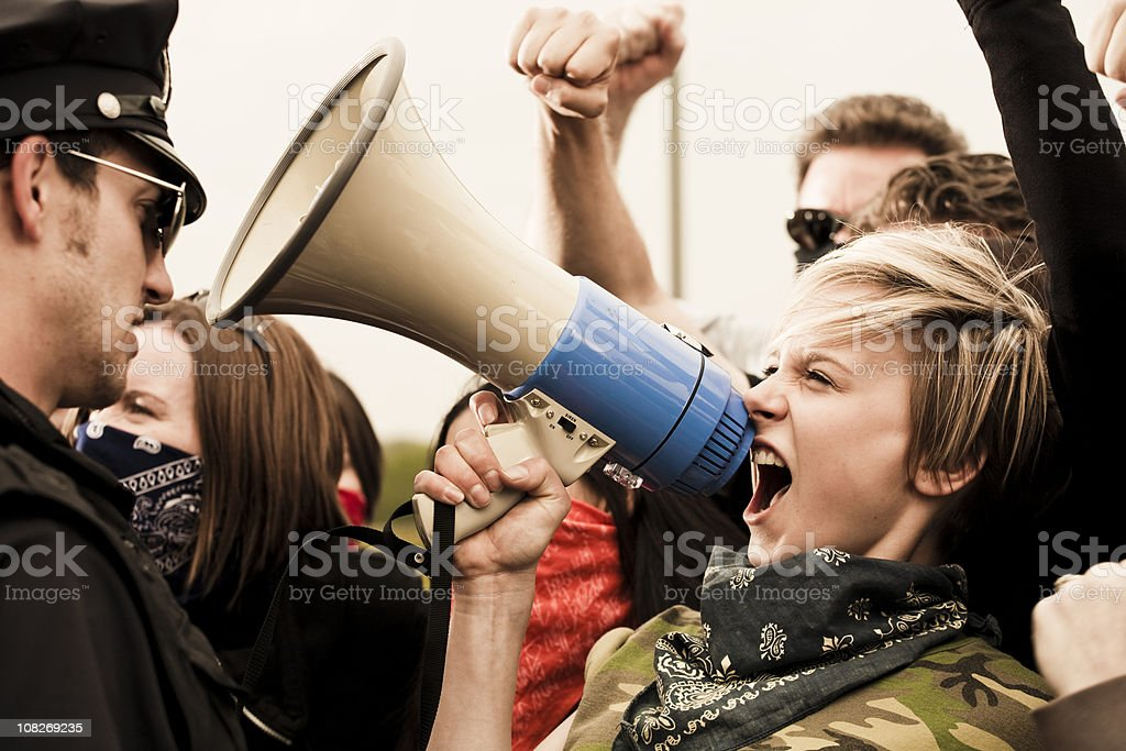 Stand up for your rights stock photo