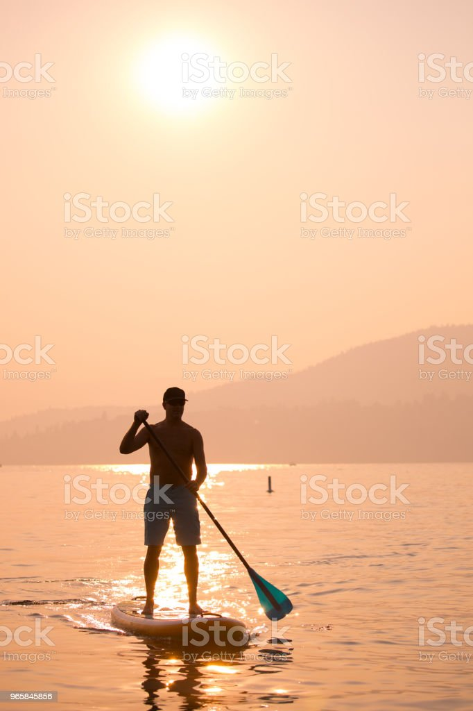 Stand up paddle boarding - Royalty-free Actieve levenswijze Stockfoto
