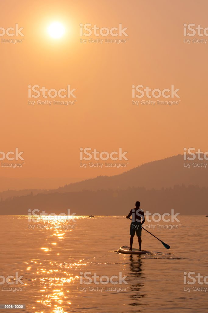 Stand up paddle boarding - Royalty-free Adult Stock Photo