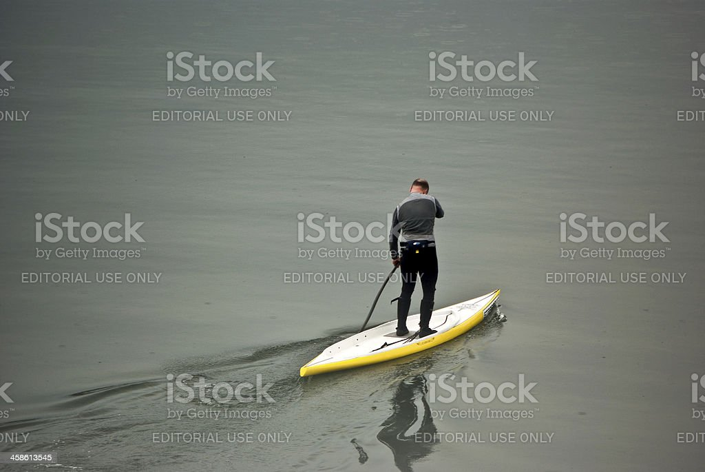 Stand Up Paddle Surfing royalty-free stock photo
