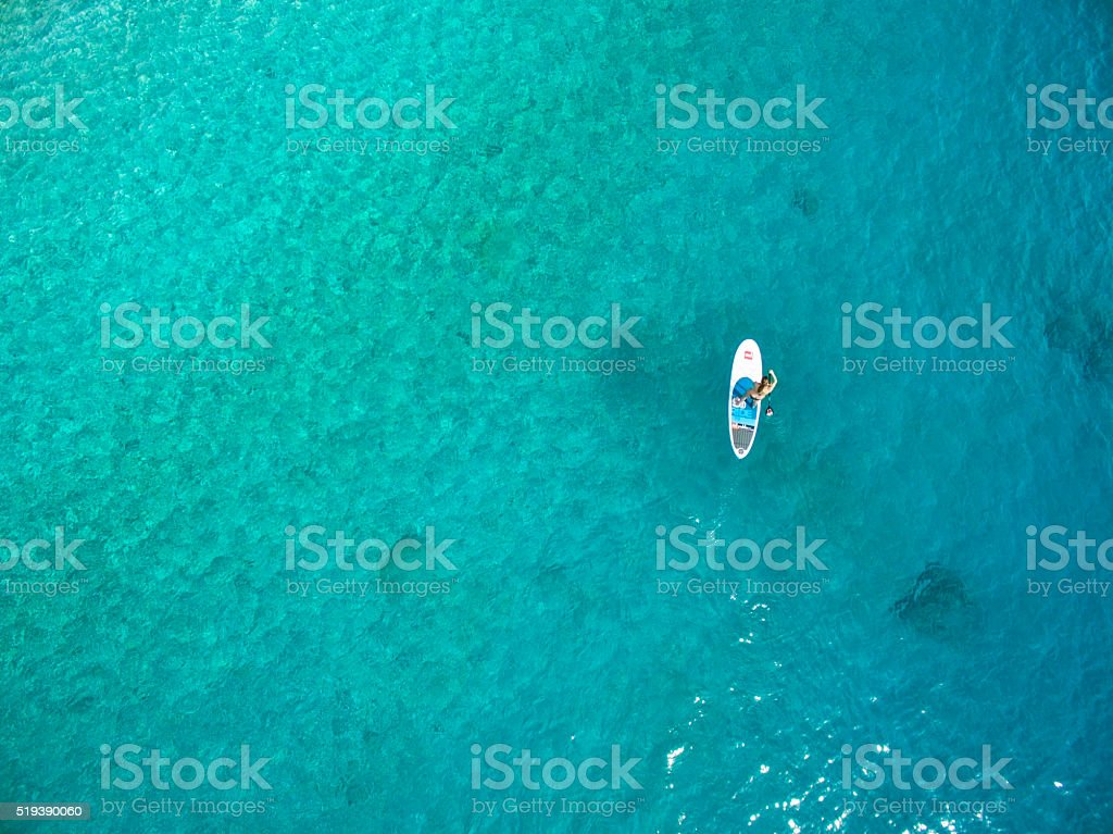 Stand Up Paddling stock photo