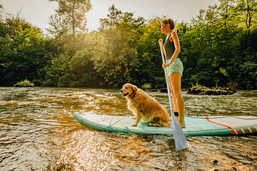 Stand up paddling with my dog