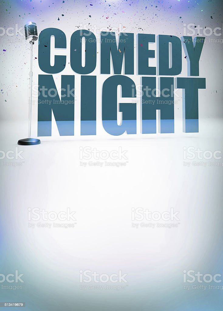 Stand up show background stock photo