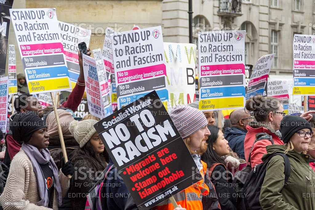 Stand Up To Racism stock photo