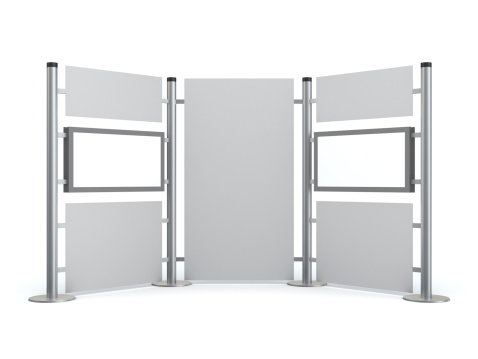 3D stand with blank video LCD displays