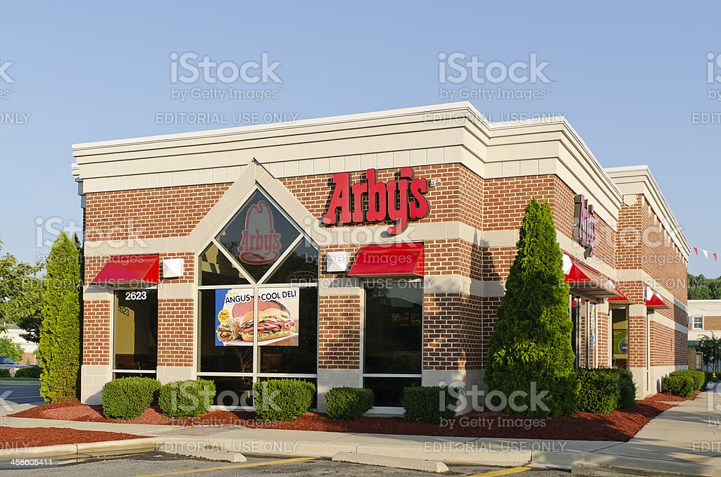 Standalone Arby's Location in a Modern Shopping Center stock photo