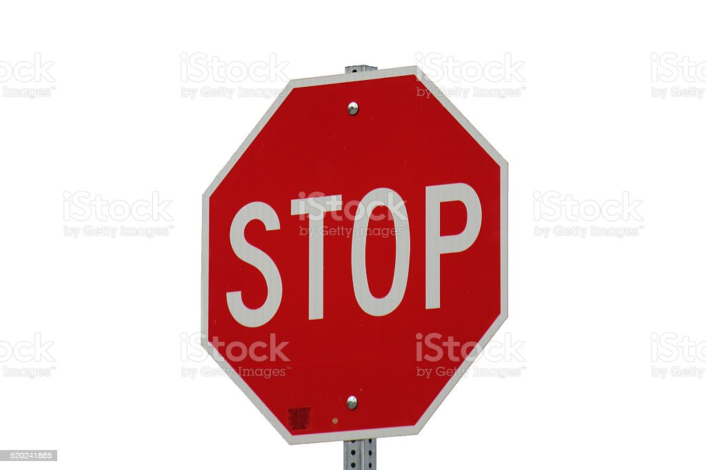 Standalone Stop-Sign stock photo