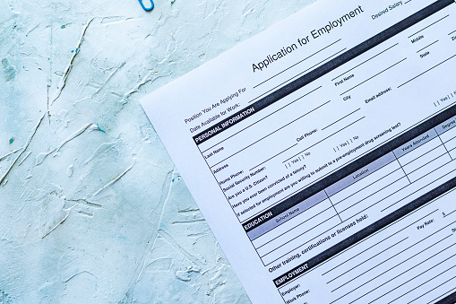 587228412 istock photo Standard Application for Employment 1164223869