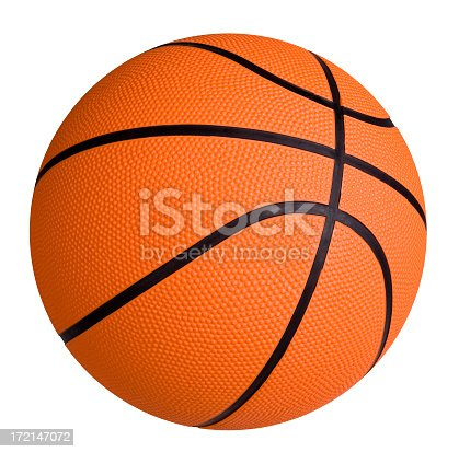 New Basketball isolated on white background