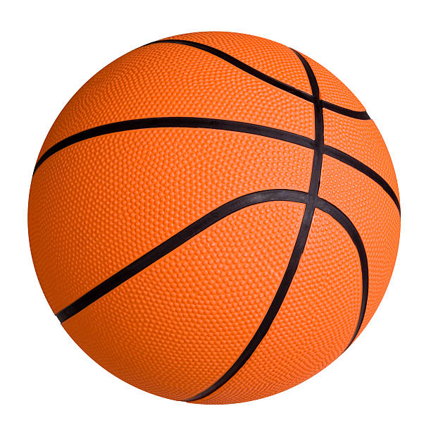 Standard basketball on white surface New Basketball isolated on white background basketball ball stock pictures, royalty-free photos & images
