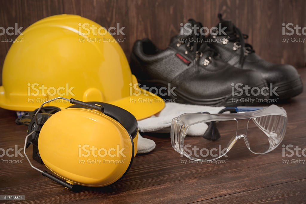 Standard industrial safety equipment stock photo