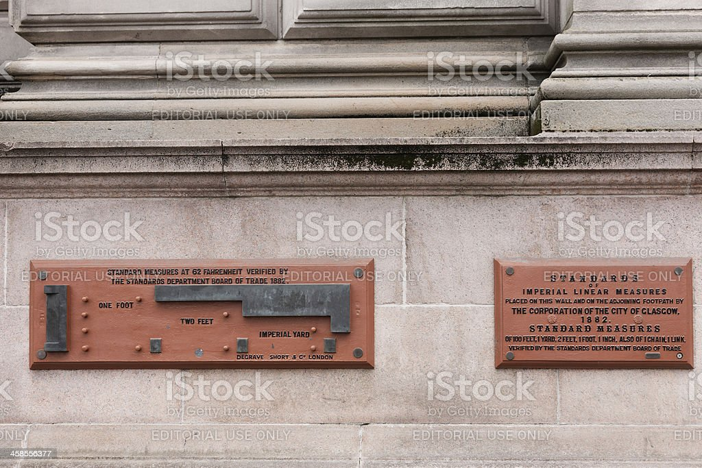 Standard Measures, Glasgow City Chambers stock photo