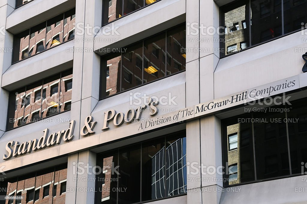 Standard & Poors in NY stock photo