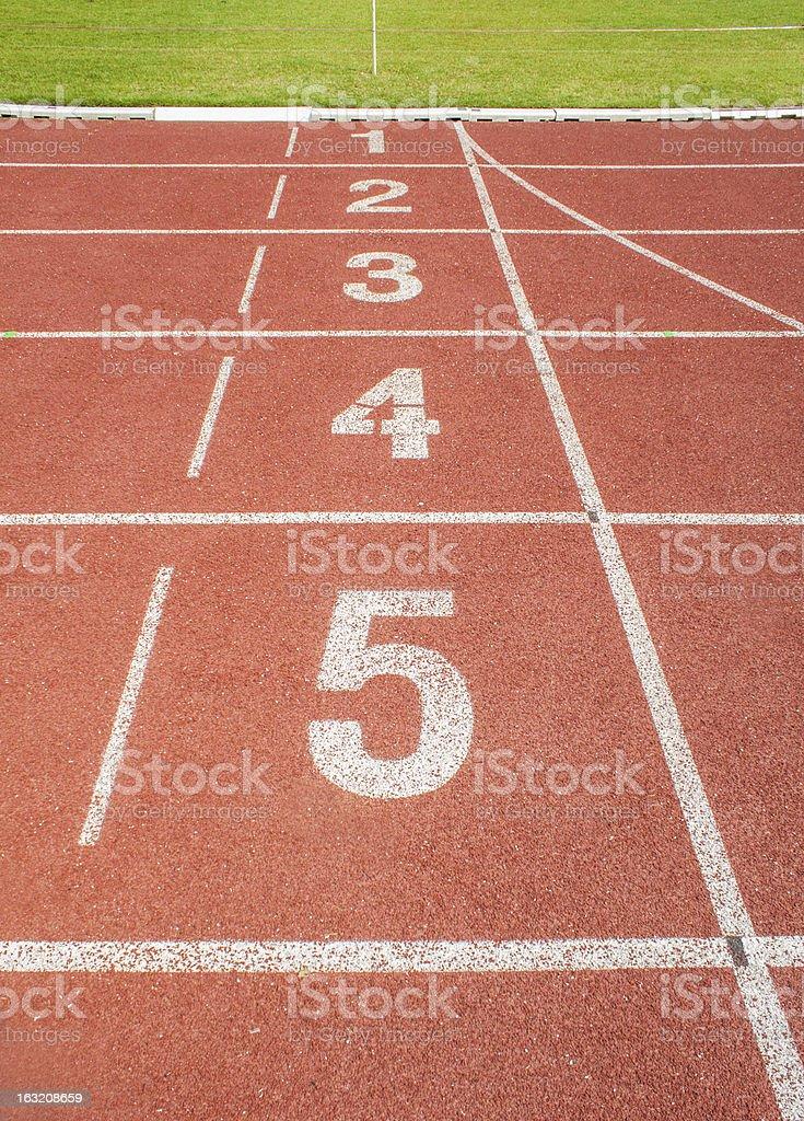 Standard Running track royalty-free stock photo