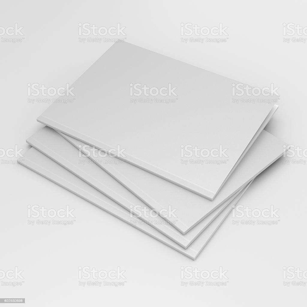 standard size catalog or magazine stock photo