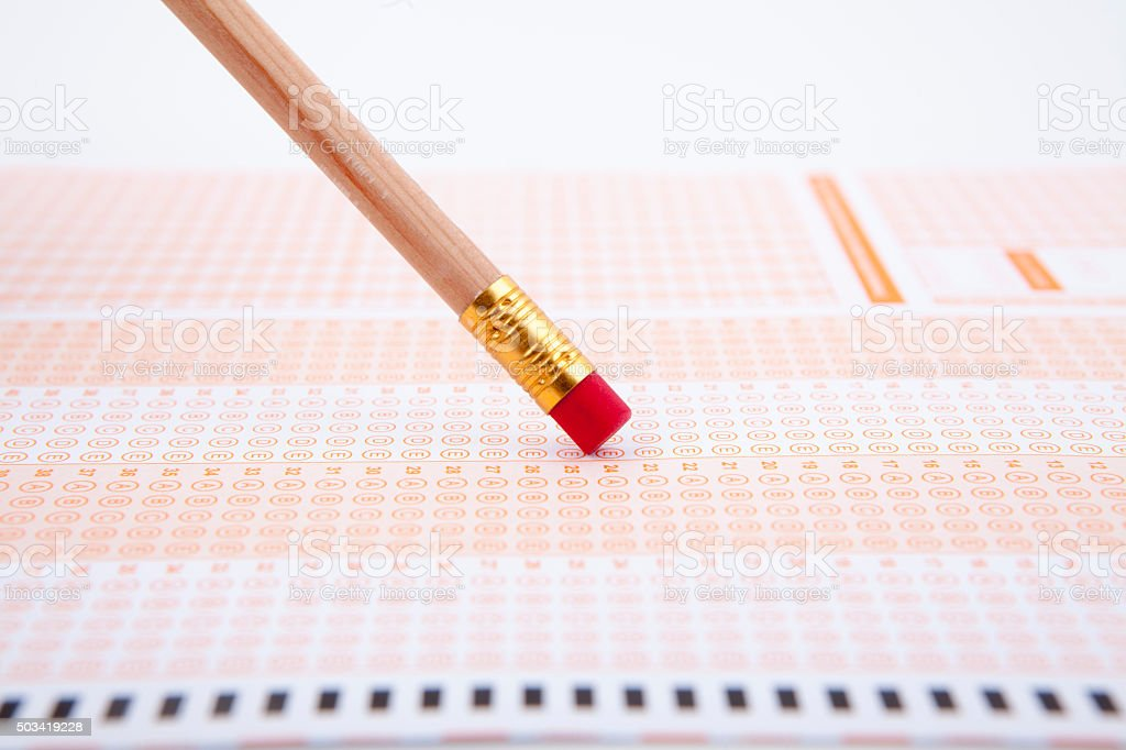 Standardized Test with Pencil stock photo