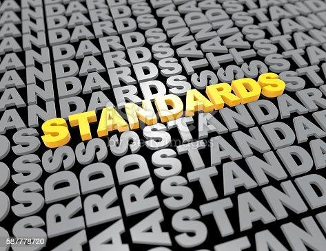 Standards - 3d render concept