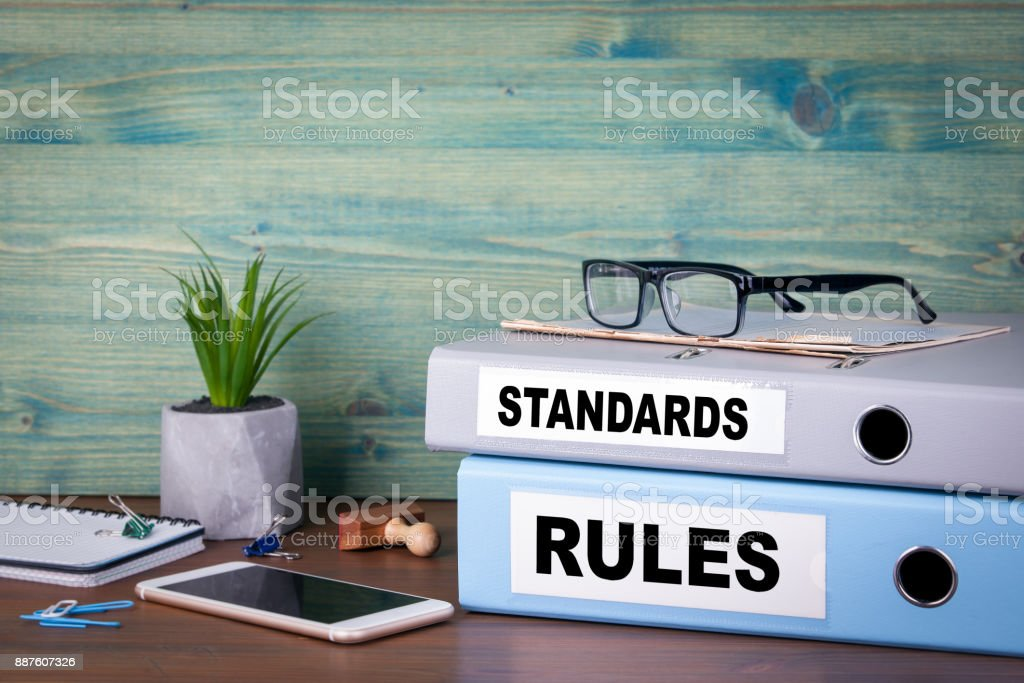 standards and rules concept. Successful business, law and profit background royalty-free stock photo