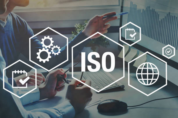 ISO standards quality control stock photo