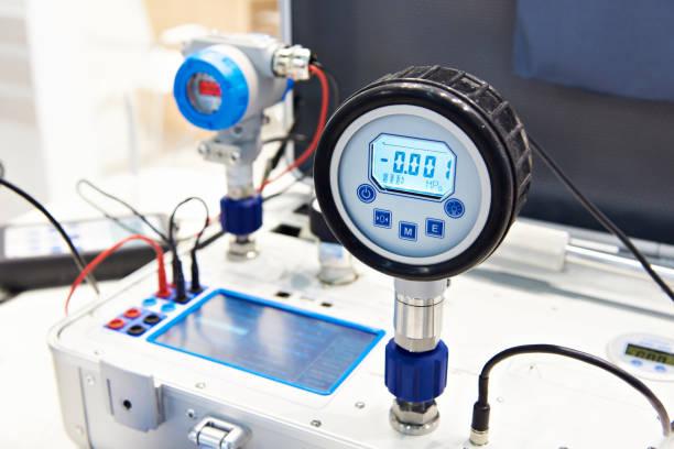 Standart pressure transmitter stock photo