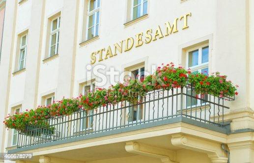 Standesamt - german for office of vital statistics. At the Standesamt people can marry or divorce. This Standesamt is in Gera, Germany.