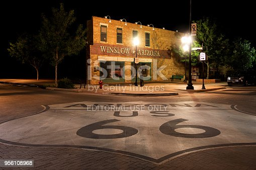 July 5 2015 Winslow Arizona, USA: Famous place named