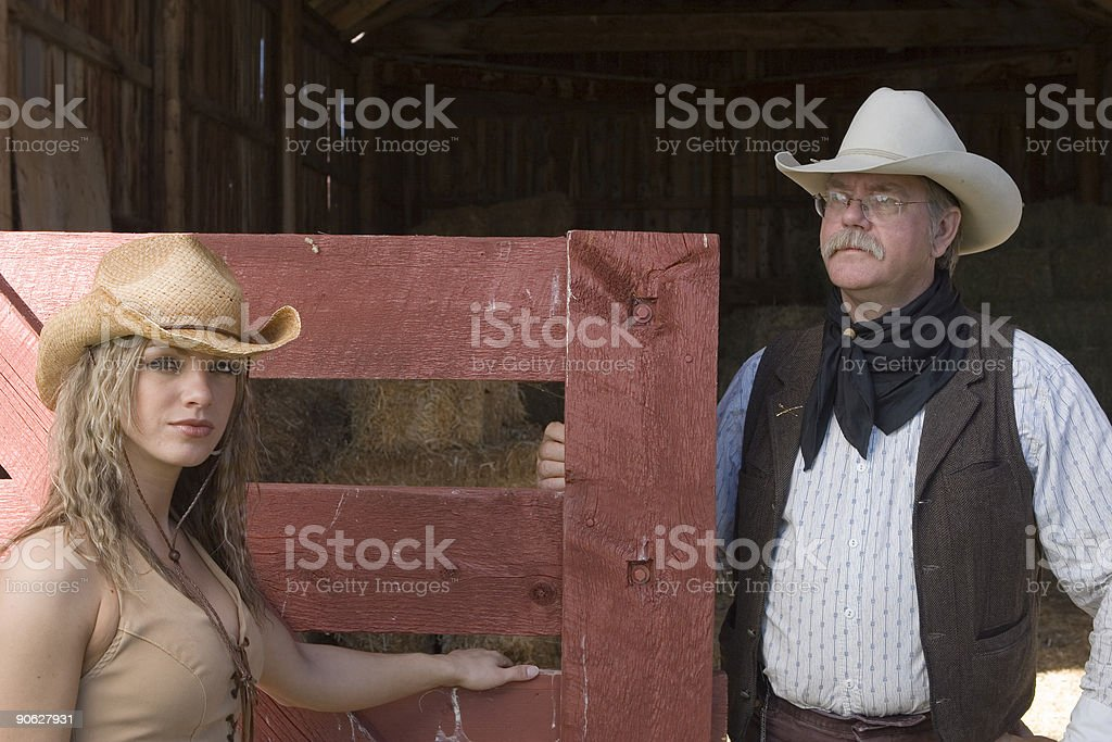 Standing at Barn Gate royalty-free stock photo