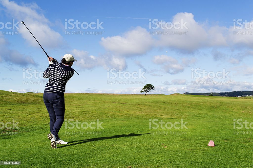 Standing at the tee royalty-free stock photo
