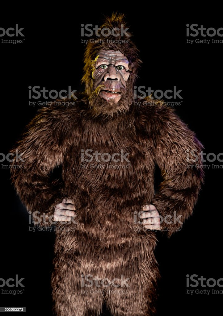 Standing Bigfoot stock photo