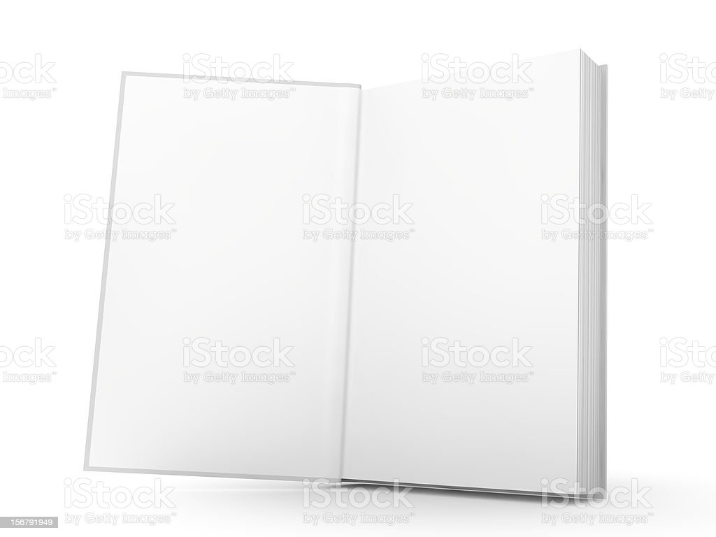 Standing book stock photo