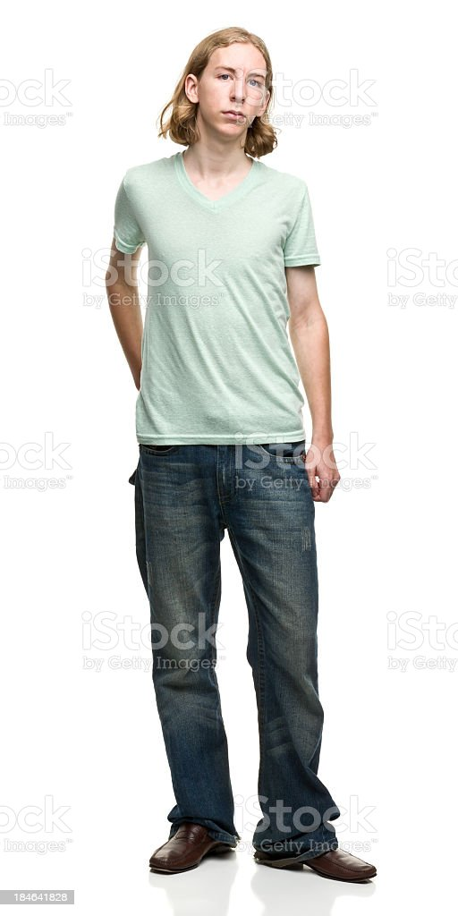 Standing Bored Young Man royalty-free stock photo