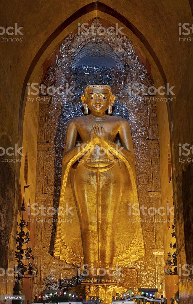 Standing Buddha at the Ananda Temple - North Facing royalty-free stock photo