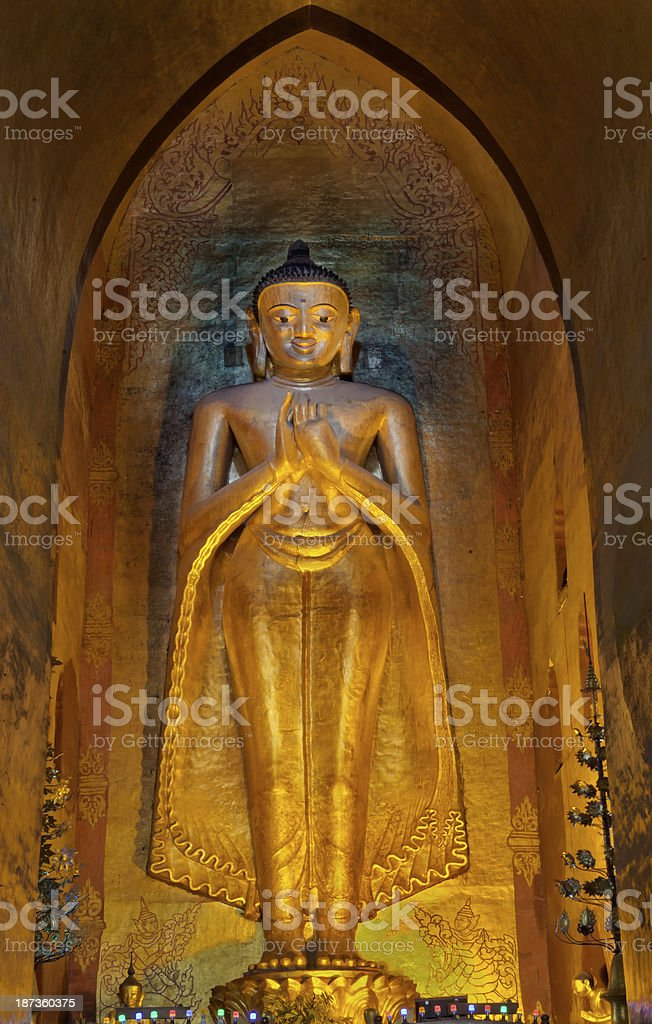 Standing Buddha at the Ananda Temple - South Facing royalty-free stock photo