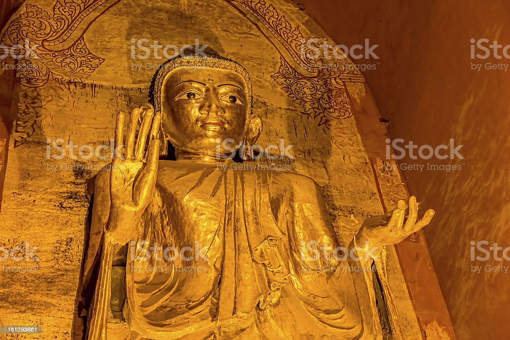 Standing Buddha Gotama West facing royalty-free stock photo