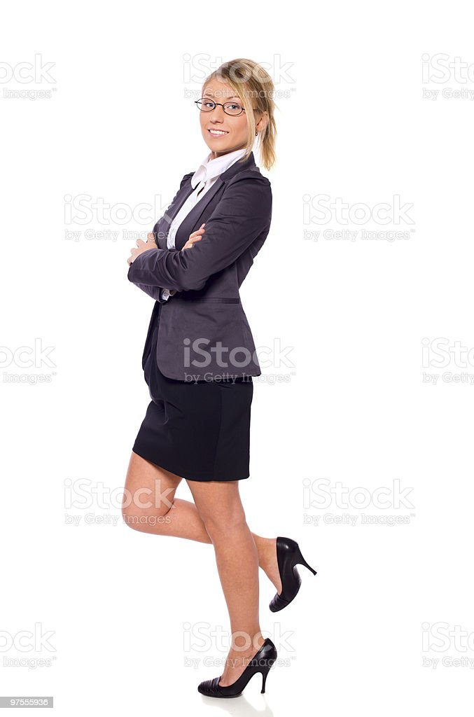 Standing businesswoman royalty-free stock photo