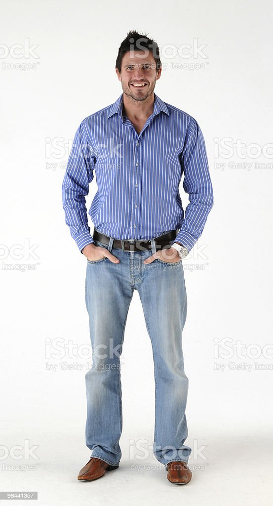 standing casually dressed man royalty-free stock photo