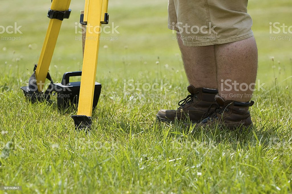 Standing Construction Worker royalty-free stock photo