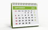 istock Standing Desk Calendar September 2021 1302146863