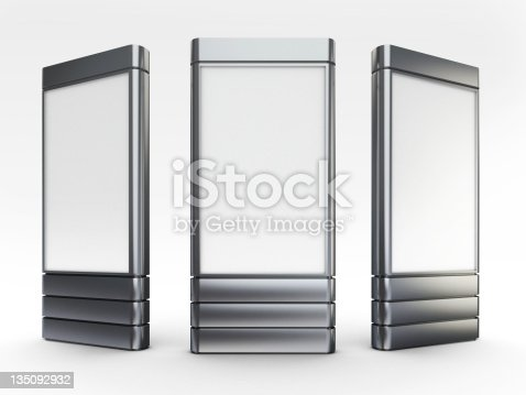 istock Standing digital poster advertising screens 135092932