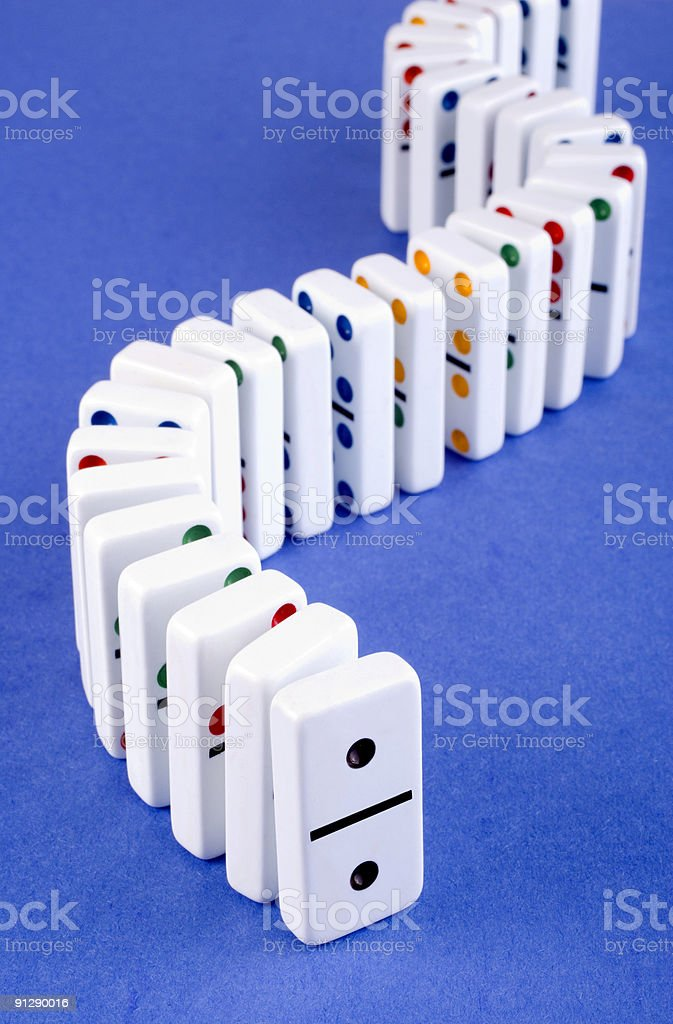 Standing Dominoes royalty-free stock photo