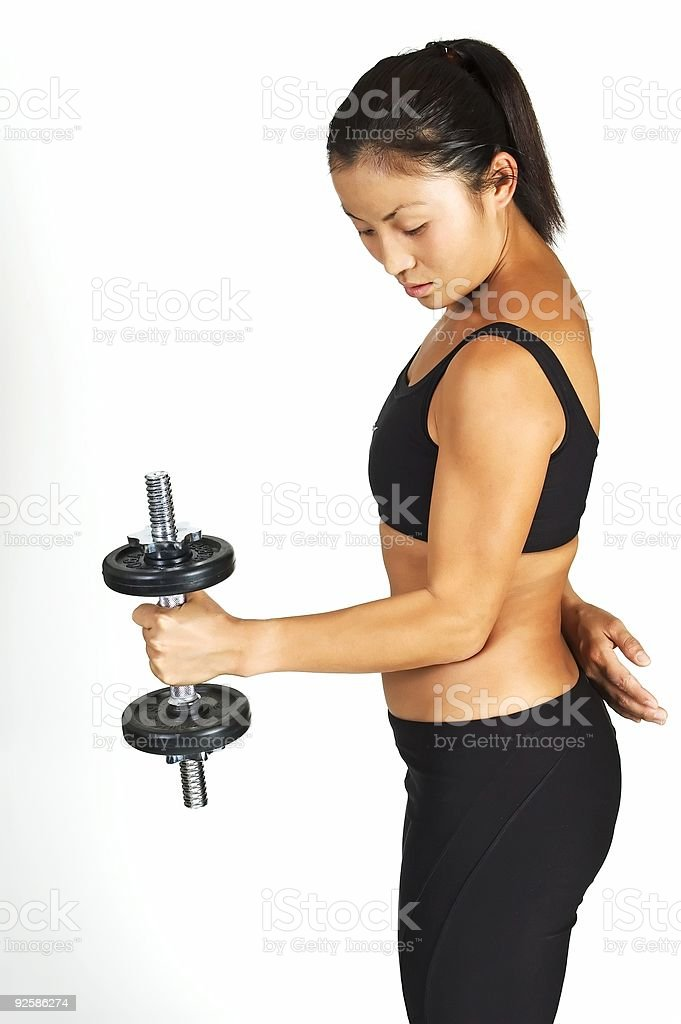 Standing Dumbbell Curl royalty-free stock photo