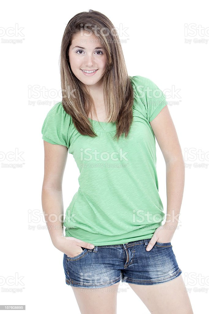 Standing girl. royalty-free stock photo
