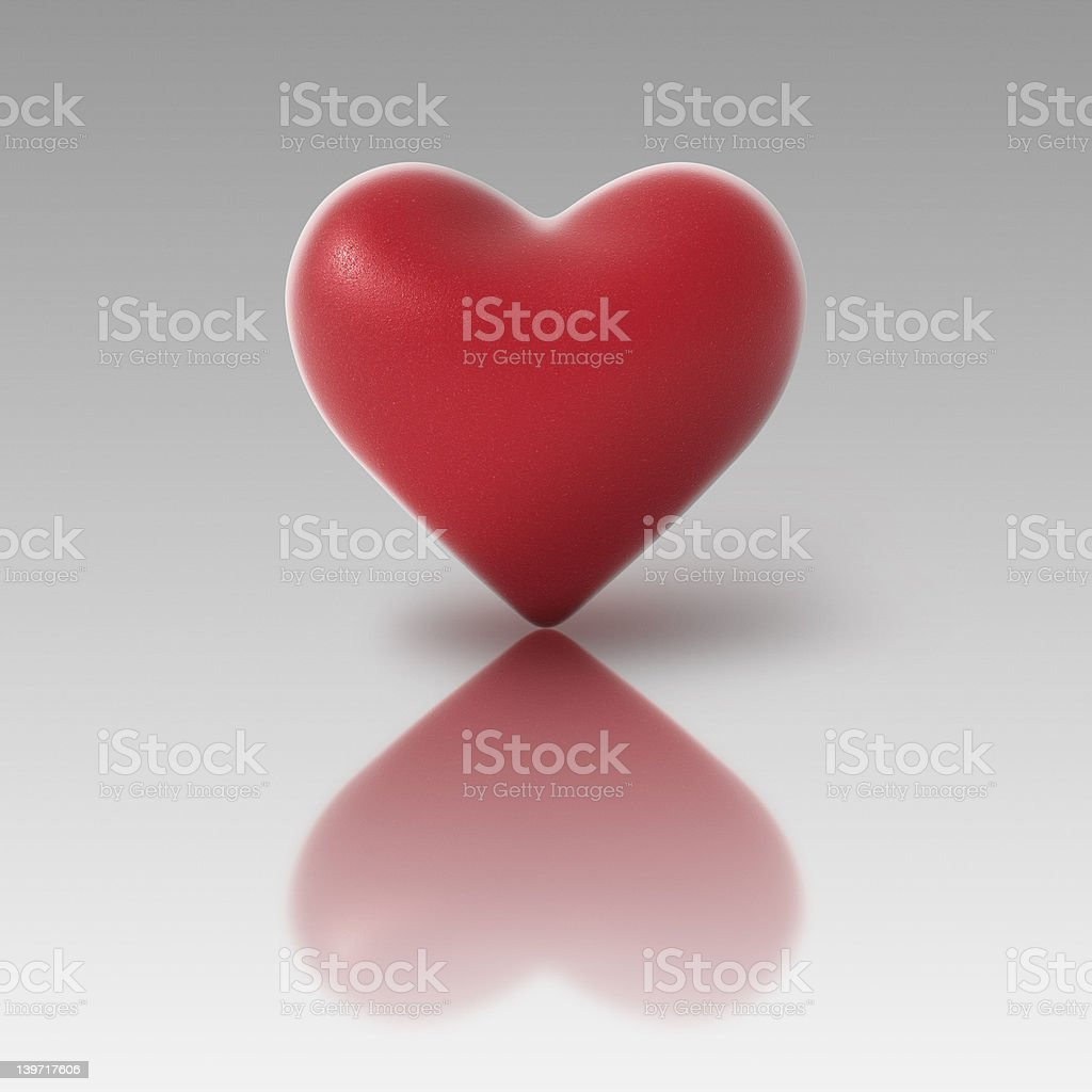 Standing heart royalty-free stock photo