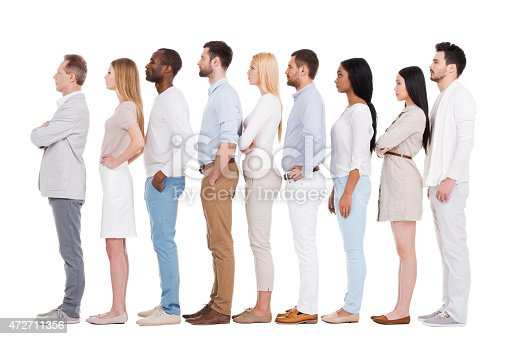 istock Standing in a row. 472711356